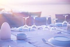 Luxury table setting Stock Photos