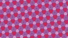 Kaleidoscope of mosaics with polygonal geometric shapes Stock Footage