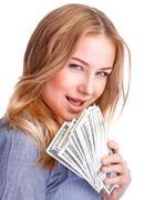 Spending money concept - stock photo