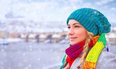 Enjoying winter holidays - stock photo