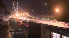 Time lapse - Traffic on Bay Bridge in San Francisco, California Stock Footage