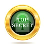Stock Illustration of Top secret icon. Internet button on white background..