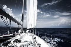 Luxury sail boat - stock photo