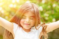 Stock Photo of Happy childhood concept