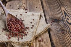 Heap of dried Red Beans - stock photo