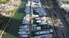 Aerial Video of Miami International Boat Show 2015 Stock Footage