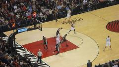 3 Point Shot Made Meyers Leonard Stock Footage