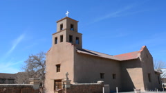 Santa Fe New Mexico Santuario de Guaoajupe  the Extant Shrine to OUr Lady of Stock Footage