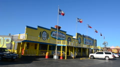 Amarillo Texas famous Big Texas Steak Ranch restaurant home of the Free 72 oz Stock Footage