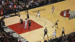 NBA Basketball Jump Shot Wesley Matthews Stock Footage
