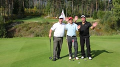 Nes Norway golf course with local men golfers called Ringerke Golf Course  MR-3 - stock footage