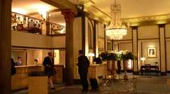 Stockholm Sweden exclusive Grand Hotel lobby expensive luxury hotel Arkistovideo