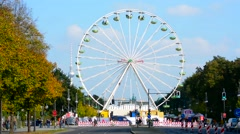 Berlin Germany city center ferris wheel for celebration in center near Stock Footage