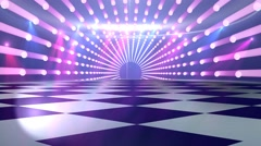 Disco dance floor background Stock Footage