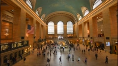 New York City New York Grand Central Station main hall of bus and train station Stock Footage