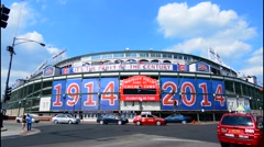 Chicago Illinois famous Wrigley Field for Major League Baseball team of Chicago Stock Footage