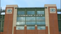 Green Bay Wisconsin Lambeau Stadium home of Green Bay Packers NFL Football team Stock Footage