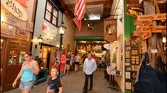 Wall South Dakota famous Wall Drug Store tourist landmark interior world known Stock Footage