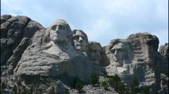 Mount Rushmore South Dakota Keystone  National Memorial of  Presidents in stone - stock footage
