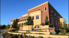 Boise Idaho college building of Boise State University university campus at Stock Footage
