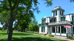 Stock Video Footage of North Platte Nebraska home of famous Buffalo Bill built in 1886 Nebraska's most