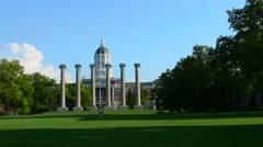 Columbia Misouri University of Missouri Jesse Hall and The Columns First State Stock Footage