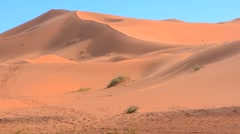 Morocco Sahara Desert sand dunes in Las Palmeras area with peaks and sand Stock Footage