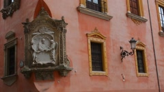 Granada Spain architecture close ups in old city and wonderful arches and Stock Footage
