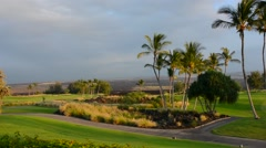 Waikoloa Hawaii Big Island golf course at exclusive Kings Golf Course at Stock Footage