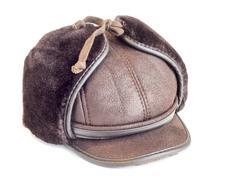Mens winter cap - stock photo