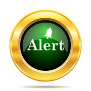 Stock Illustration of Alert icon. Internet button on white background..