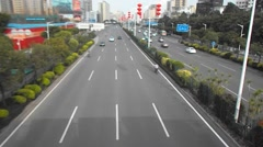 Shenzhen, China: Baoan Avenue traffic landscape Stock Footage