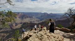 4K Grand Canyon South Rim Dolly 05 Yavapai Point Stock Footage