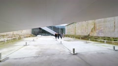 The maritime museum of Denmark is very interesting architecture Stock Footage