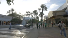 People walking at the Lincoln Road Mall Miami Beach, Florida Stock Footage