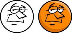Stock Illustration of character face cartoon illustration