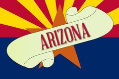 Arizona Scroll - stock illustration