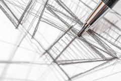 Architect Hand Drawing House Plan Sketch Stock Photos