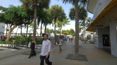 Crossroad between Lincoln Road Mall and Meridian Avenue , Miami Beach - stock footage