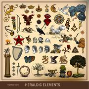 Heraldic elements Stock Illustration