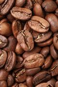 Background of premium roasted coffee beans Stock Photos