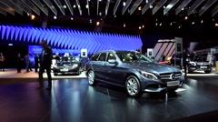 Mercedes-Benz C-Class Wagon Stock Footage