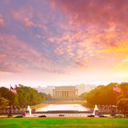 Abraham Lincoln Memorial sunset Washington Dc Stock Photos