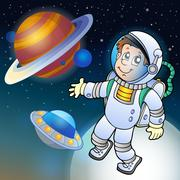 Image with space theme 1 Stock Illustration