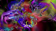 Psychedelic dynamic background. Stock Footage