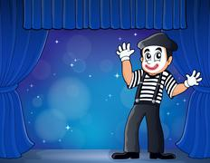 Mime theme image 3 - stock illustration