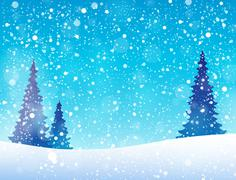 Snow theme background 5 - stock illustration