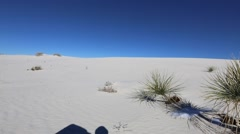 Stock Video Footage of White Sands national park is  field of white sand dunes composed of gypsum cr