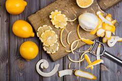 low key lemons - stock photo