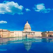 Stock Photo of Capitol building Washington DC east facade US